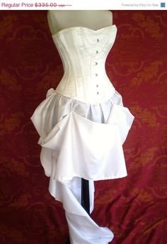 HOLIDAY SALE white queen steel boned halloween corset outfit-whole outfit made for buyer