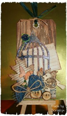 lijntje scrapt: Tag birdhouse (350)