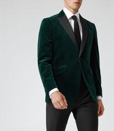 Men New Designer Wedding Grooms Tuxedo Dinner Green Velvet Jacket Blazer coat Green Suit Men, Green Suit Jacket, Green Velvet Jacket, Green Tux, Jacket Men, Blazer Jacket, Wedding Suit Styles, Wedding Suits, Wedding Groom