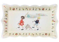 superleuk dienblad 'belle & boo' talking tables | kinderen-shop Kleine Zebra