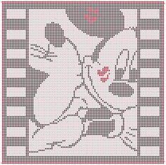 Alpha pattern #20547 | BraceletBook Mickey And Minnie Kissing, Disney Mickey, Friendship Bracelet Patterns, Friendship Bracelets, Alpha Patterns, Crafts, Cinderella, Cross Stitch, Pattern