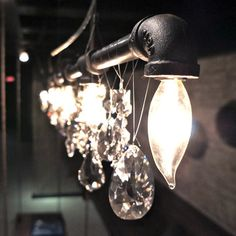 Michael McHale Designs - Industrial-Chic Chandeliers. Tribeca Bar Chandelier $696 to $540 (-22%).