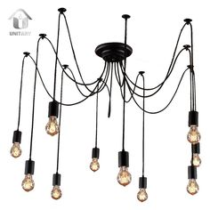 Unitary™ Antique Large Barn Chandelier with 10 lights Painted Finish: Amazon.co.uk: Lighting