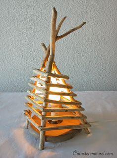 Lamparas con Madera Reciclada, Diseño Ecoresponsable con Madera a la Deriva …