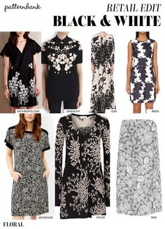 Patternbank brings you a snapshot of the key trends happening on the high streetfor A/W 15/16. This powerful Black & White statement continues to be