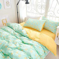 FADFAY Cute Pineapple Bedding Sets Green Yellow Girls Duv... https://www.amazon.com/dp/B01DOTASAA/ref=cm_sw_r_pi_dp_LB5txb1NP02DR