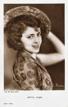 https://flic.kr/p/BPYw3a | Jenny Jugo | German postcard by Ross Verlag, no. 3418/1, 1928-1929. Photo: Alex Binder, Berlin.  Pretty Austrian actress Jenny Jugo (1904-2001) starred between 1931 and 1942 in eleven smart and charming comedies directed by Erich Engel.  For more postcards, a bio and clips check out our blog European Film Star Postcards Already over 3 million views! Or follow us at Tumblr or Pinterest.