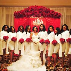 When your bridal party is LIT! Loving the entire bridal look, so elegant and timeless. Wedding planned by Florals by Bride and bridesmaids dresses by MUA Tag your squad Wedding Goals, Wedding Pics, Wedding Attire, Wedding Styles, Dream Wedding, Wedding Ideas, Wedding Blog, Wedding Website, Wedding Hijab