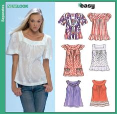 New Look 6705  Round neck (view E)= 1.2-1.5 m