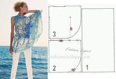 Modelagem de túnica simples e fresca. Fonte…