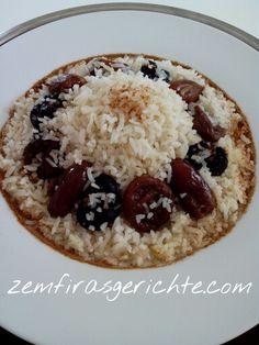 Reis mit trockenfrüchten