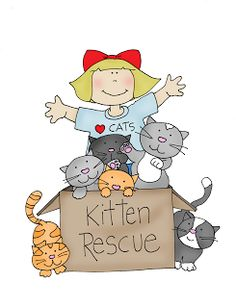 As requested....Kitten Rescue (Free Dearie Dolls Digi Stamps)