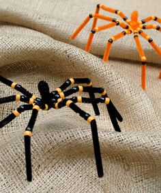 Halloween Spiders - pipe cleaners and a few beads and you are done.