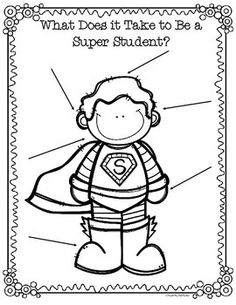 FREE Design a Super Student Positive Behavior Posters