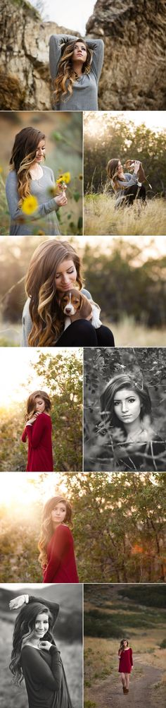 Adorable senior photos. I especially love the pictures with her puppy! :)