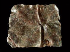 Carta celtibérica sobre plomo procedente de La Manchuela conquense (Castilla-La Mancha), III-II a.C.