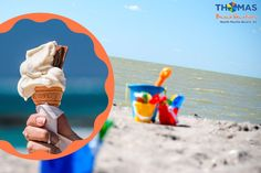Cold, creamy, sweet, and nice: no matter the flavor, ice-cream is a blissful treat that always satisfies, especially on a sunny day at the beach! Flavor Ice, Myrtle, Ice Cream, Cold, Nice, Beach, Sweet, No Churn Ice Cream, Candy