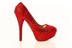 Crystal Ruby High Heels
