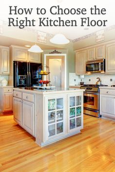 Knotty Alder Cabinets has helped you get the best RTA kitchen cabinets. Now we share how to choose the right kitchen floor. Learn all about the different flooring options and get tips to make the right choice for your kitchen and to match your cabinets.