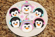 ADORABLE! penguin cookies