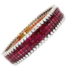 1stdibs - VAN+CLEEF+&+ARPELS+Mystery+Set+Ruby+Diamond+Bracelet explore items from 1,700+ global dealers at 1stdibs.com