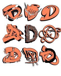 Breakdance © Favorite one? Graffiti Letter D, Graffiti Lettering Alphabet, Tattoo Lettering Fonts, Graffiti Wall Art, Street Art Graffiti, Lettering Design, Graffiti Artists, Graffiti Designs, Graffiti Styles