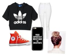 """""""Untitled #8"""" by sydneykimora on Polyvore featuring adidas, Topshop, Converse and Casetify"""