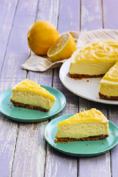 Lemon Curd-Topped Cheesecake – It's hard to say who will enjoy this tart and creamy dessert more, cheesecake or lemon fans. Our guess is that everyone will like the tart flavor this dessert brings.
