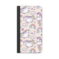 Unicorns & Rainbows - iPhone 7 Wallet Case And Cover (16.115 HUF) ❤ liked on Polyvore featuring accessories, tech accessories, iphone case, iphone cover case, apple iphone case, iphone cases and rainbow iphone case