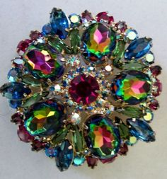 Vtg Juliana Highly Sought Watermelon Finian's Rainbow Rhinestone Pin Brooch | eBay