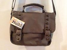 MUDD Purse, Kenny Satchel, Mushroom Color, Studded, Cross Over, New With Tags