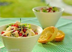 Sałatka z kopru włoskiego, granatu i sera feta