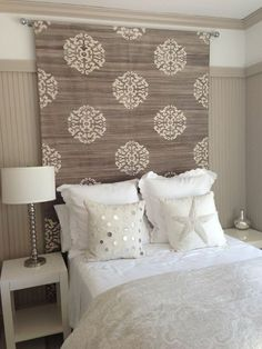 15. HEAVY CURTAINS FOR SIMPLE YET CLASSY HEADBOARD