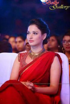 Tamanna Bhatia in red Saree looks like an angel