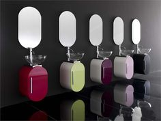 Mobile lavabo singolo sospeso FLUX_US 15 Collezione Flux_us by LASA IDEA | design Enio Calosi
