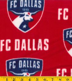 "FC Dallas Fleece Fabric 58"" - Logo"