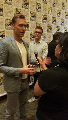 Tom Hiddleston at the #CrimsonPeak press room. #SDCC. via @ GregBurke85
