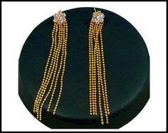 Vintage Rhinestone & Gold Bead Chain by MarlosMarvelousFinds #vogueteam #etsy gift