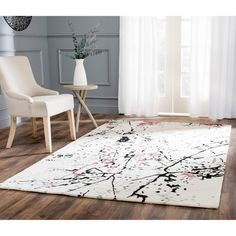 Safavieh Handmade Deco Art Ivory New Zealand Wool Rug (5'x 8') - $220.99