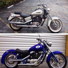 98 Honda ACE before/after Honda Cruiser, Honda Shadow, Bobber, Iron Man, Bike, Vehicles, Motorcycles, Garage, Painting