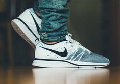 sweetsoles:Nike Flyknit Trainer+ White/Black (by Daniel Cheng) Nike Flyknit Men, Nike Flyknit Trainer, Sock Shoes, Shoe Boots, Buy Sneakers, Shoe Tree, Discount Nikes, Nike Shoes Outlet, Vintage Nike
