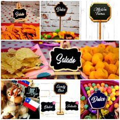 Decoración Candy Bar con Pizarras Decorativas. Encuentra todos estos modelos en Nuestra tienda ubicada en Nueva Providencia 2260 local 98 Metro Los Leones