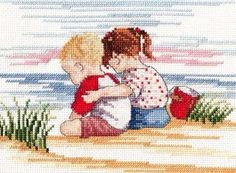 Sibling Love - Faye Whittaker Arts, All Our Yesterdays Cross Stitch and Original Art Wesbsite