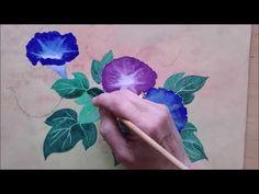 Atelier nihonga : Asagao - YouTube Art Japonais, Fabric Painting, Youtube, Morning Glory Plant, Atelier, Artist, Painting On Fabric, Youtubers, Youtube Movies