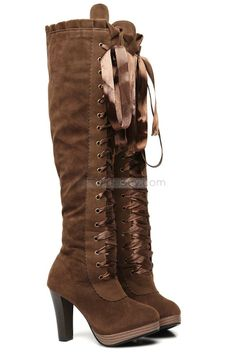 Latest High Heel Zipper-up Round Toe Long Shaft Height Lady's Boot : Tidebuy.com