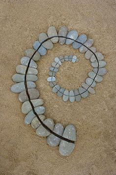 Split Pebble Spiral - Goldsworthy Style Spiral by escher is still alive, via Flickr