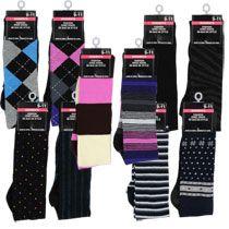 Ladies Knee-High Fashion Socks, Size 9-11