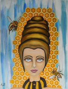 """Saatchi Artist Claudia Tuli; Painting, """"Queen Bee and the nectar of the gods"""""""