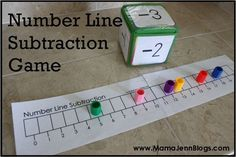 Number Line Subtraction Game, also a Number Line Addition Game