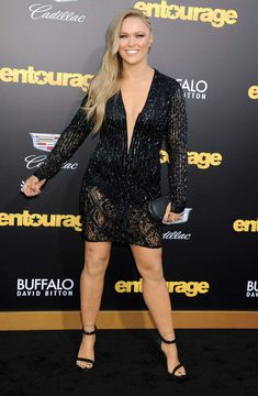 WWE Superstar Ronda Rousey on the red carpet #WWE #UFC #fashion #style #wrestling #wrestler